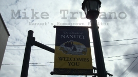 Welcome to Nanuet, sign located on Middletown Road in Nanuet NY, lovely Rockland County