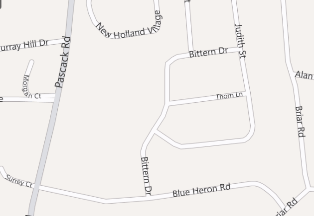 Map based search of Briarwoods Nanuet Colonial subdivison in Rockland County